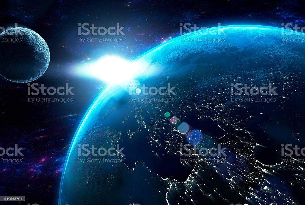Die Erde stock photo