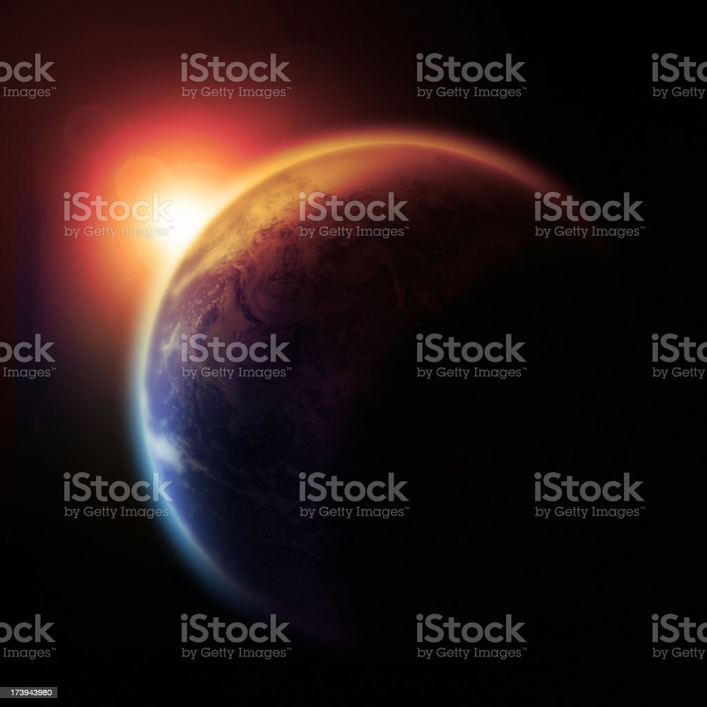 The Earth Slowly Burns royalty-free stock photo