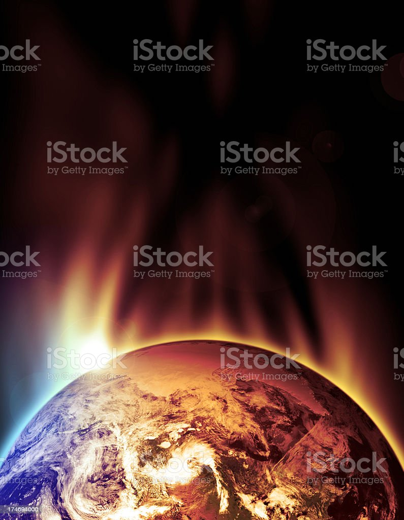The Earth Slowly Burns royalty-free stock photo