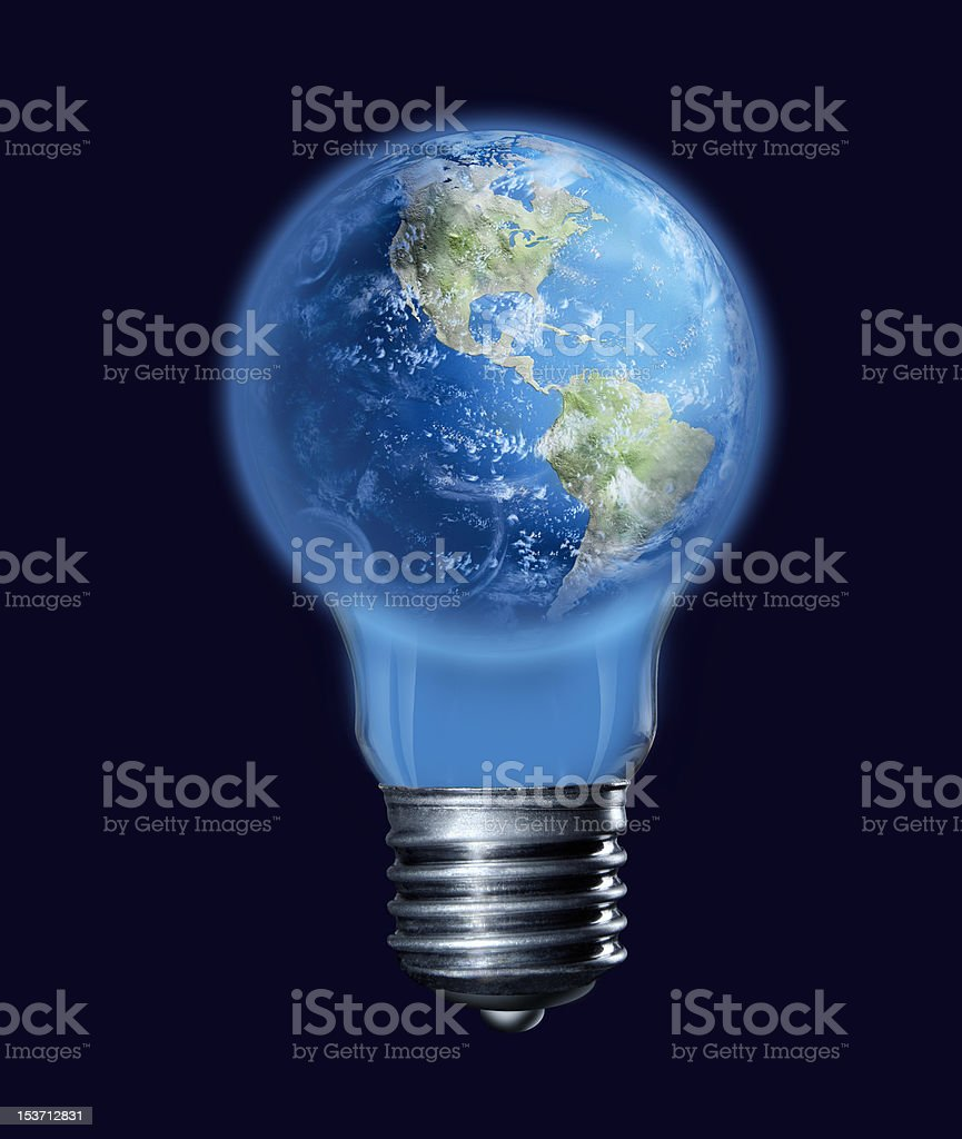 The earth-bulb royalty-free stock photo