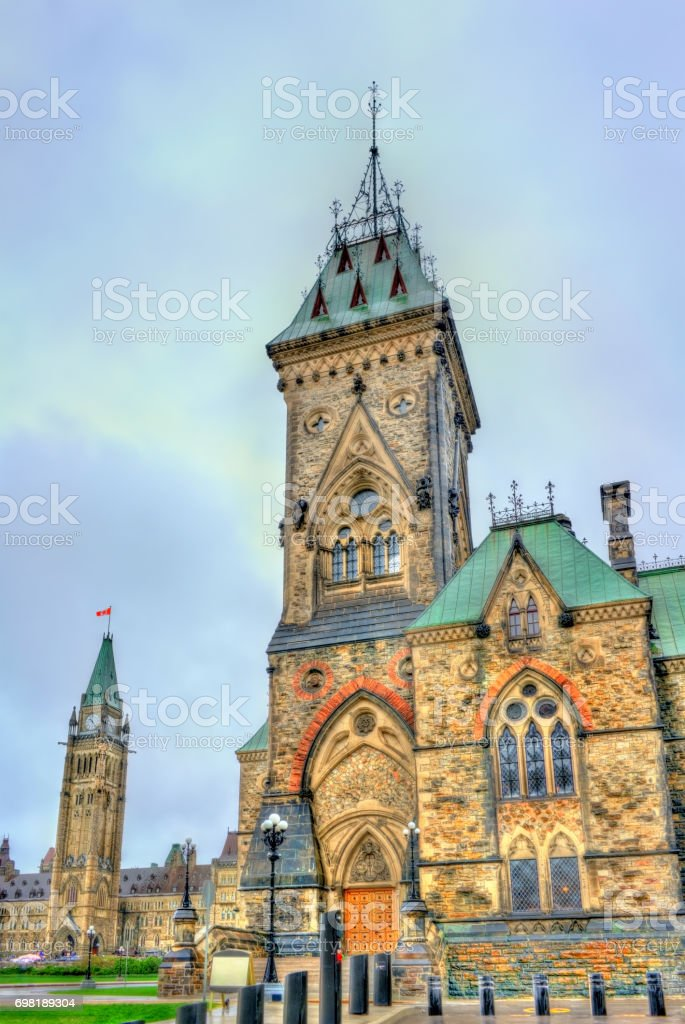 The East Block of Parliament in Ottawa, Canada stock photo