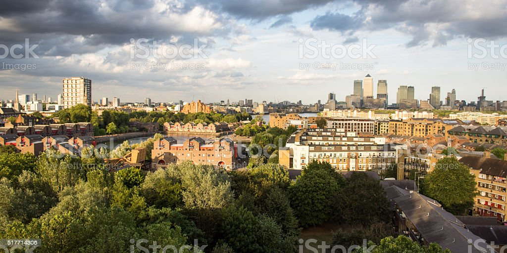 The East End of London stock photo