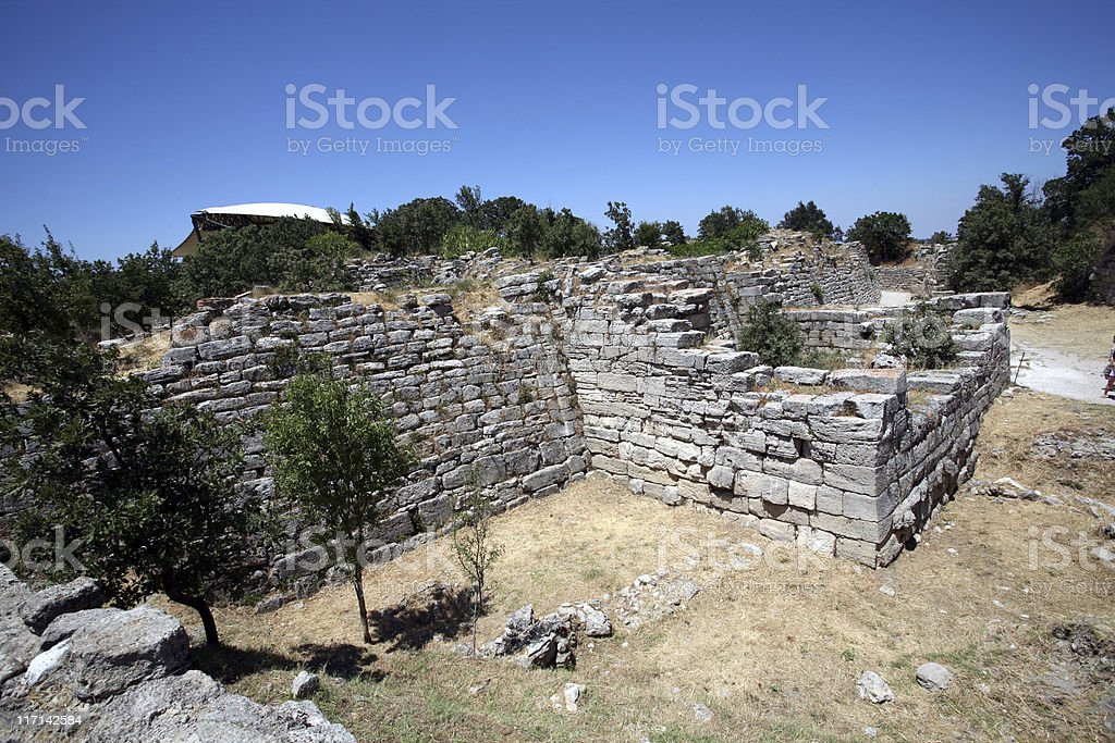 The East Wall Of Troy stock photo