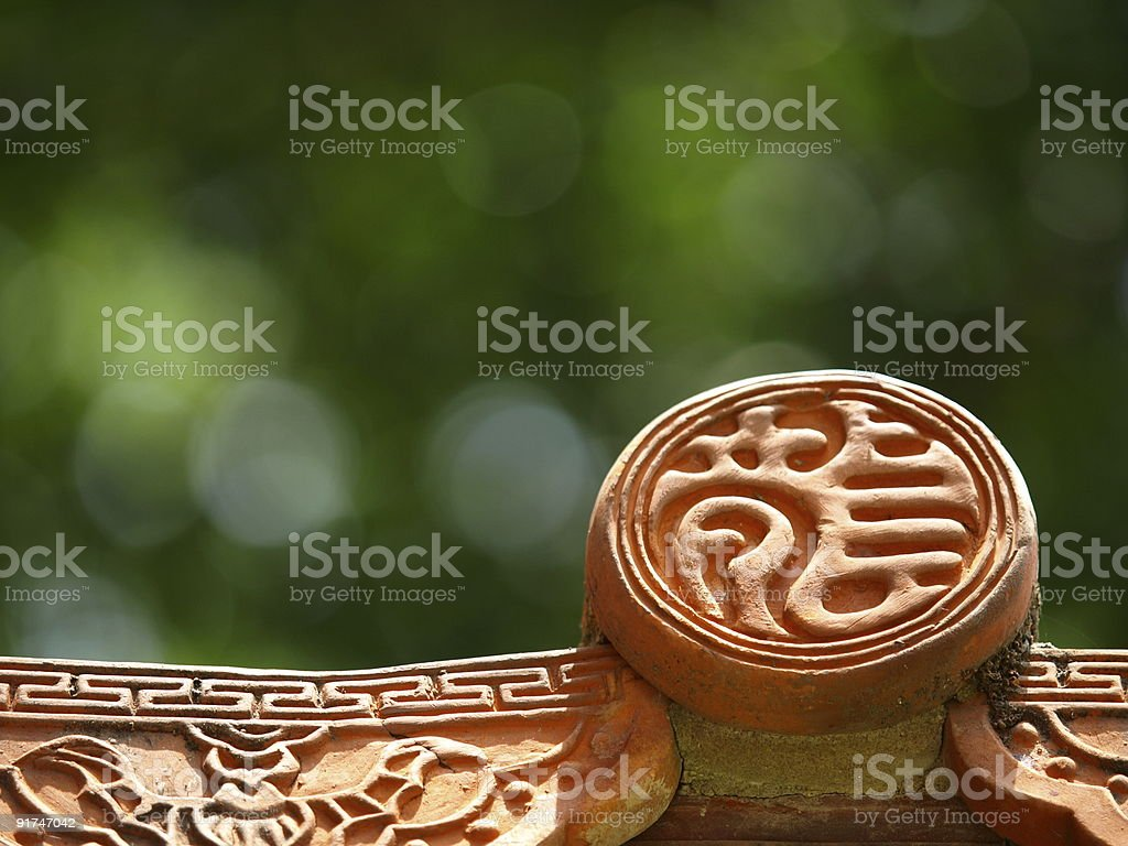 The Eaves Tile of Tainan Confucius Temple royalty-free stock photo