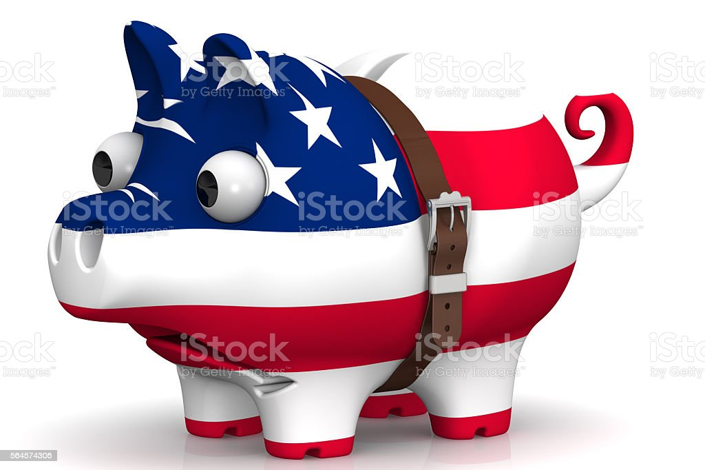 The economic crisis of the United States of America. Concept stock photo
