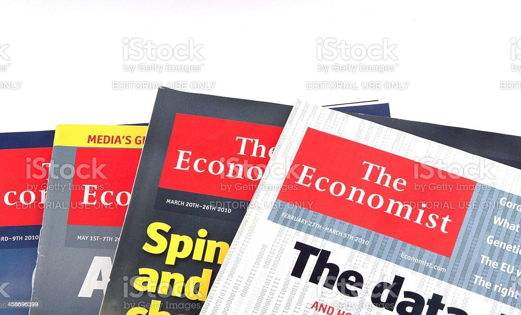 The Economist isolated on white stock photo