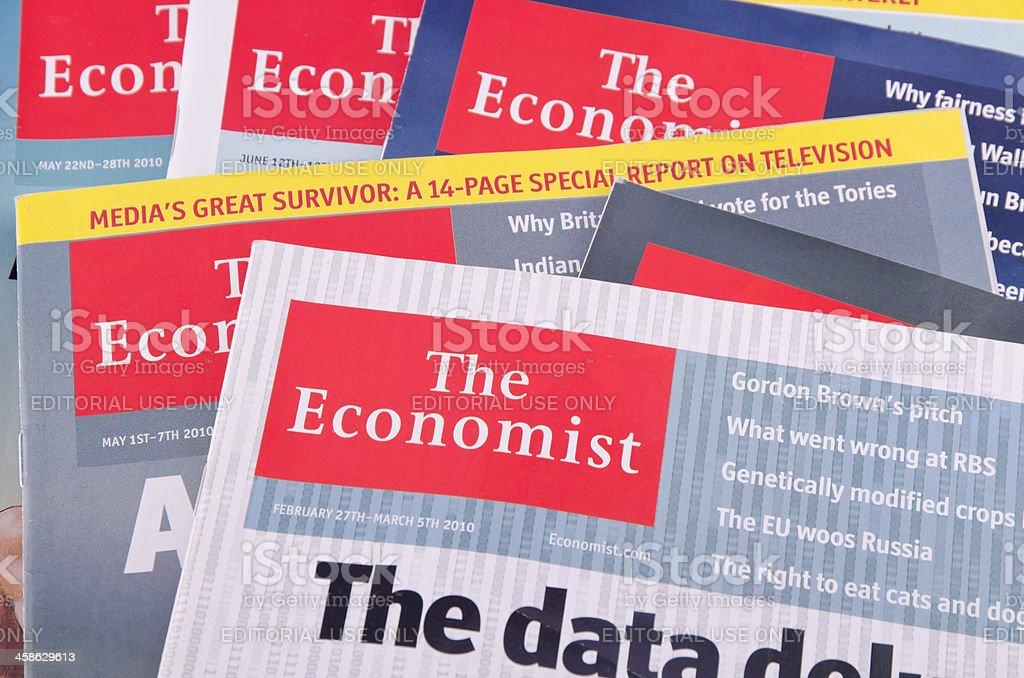 The Economist magazine stock photo