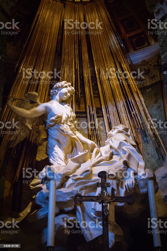The Ecstasy of Saint Teresa stock photo