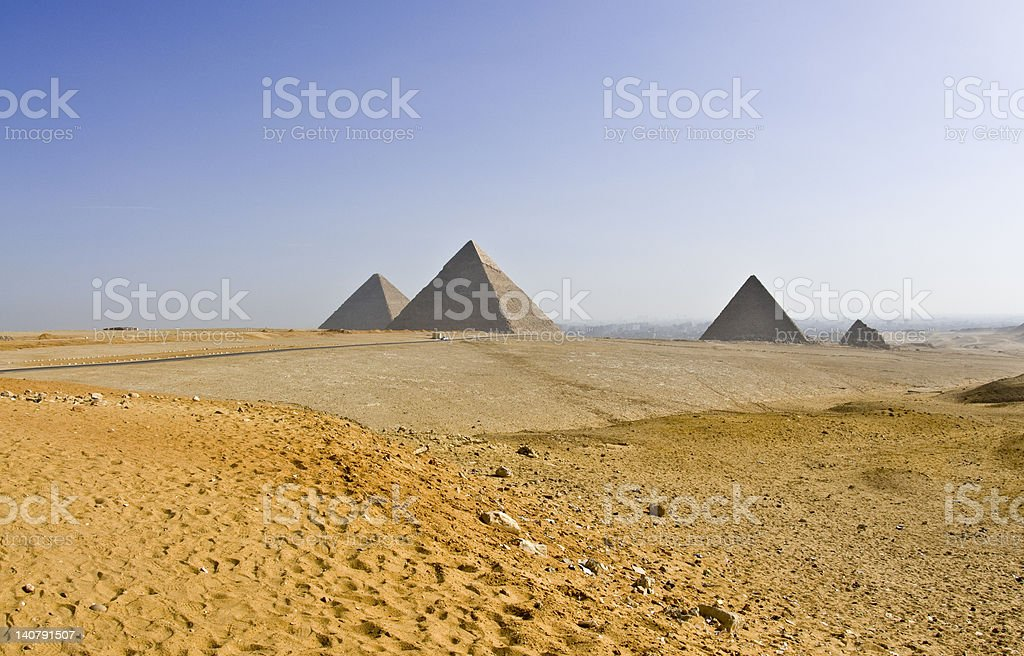 The Egyptian pyramids royalty-free stock photo