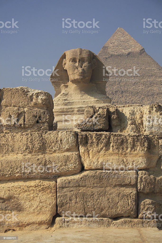 The Egyptian sphinx royalty-free stock photo