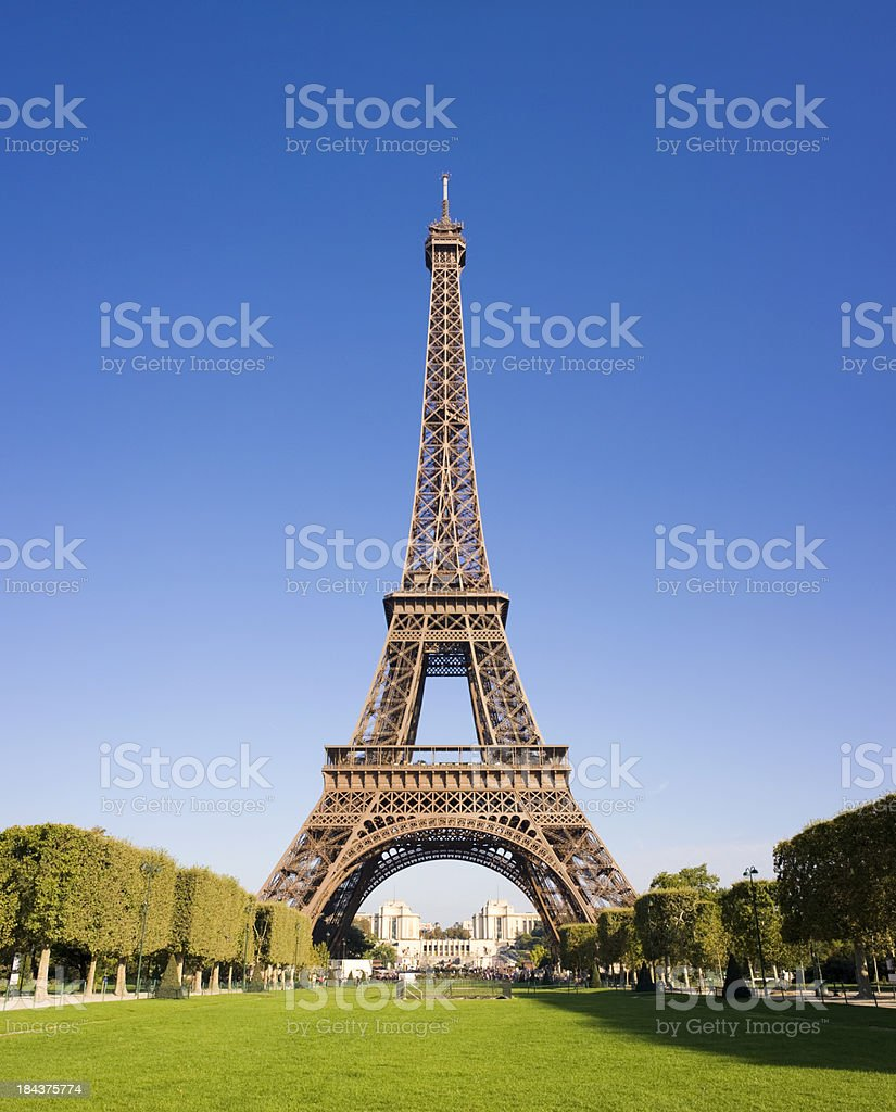 The Eiffel Tower in Paris France stock photo