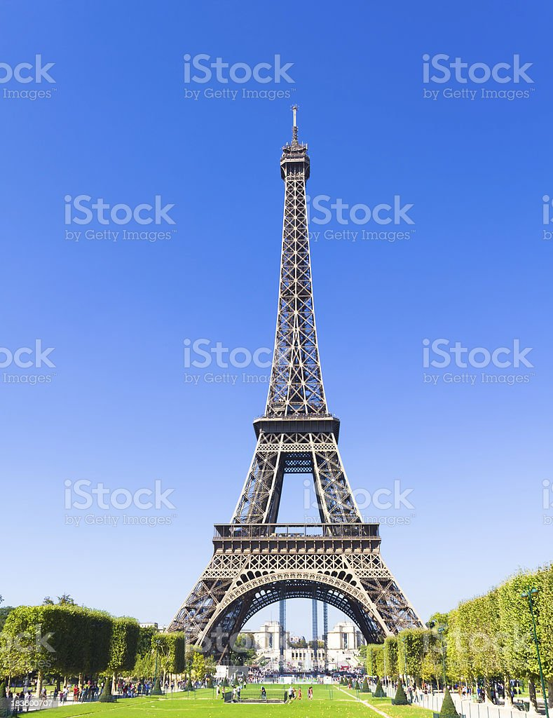 The Eiffel Tower in Paris royalty-free stock photo