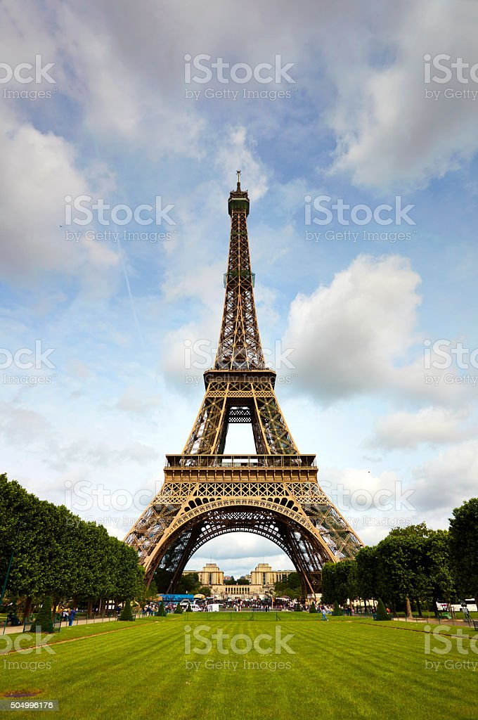 The Eiffel Tower In Paris stock photo