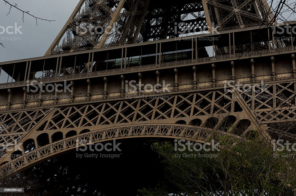 The Eiffel Tower names royalty-free stock photo