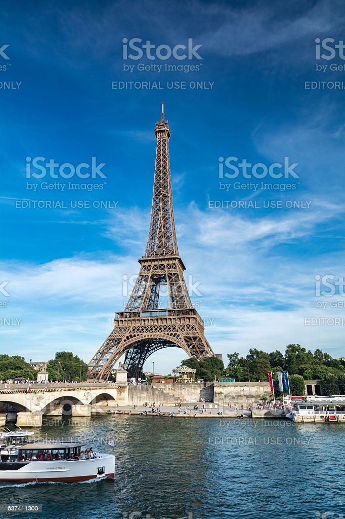 The Eiffel Tower stock photo