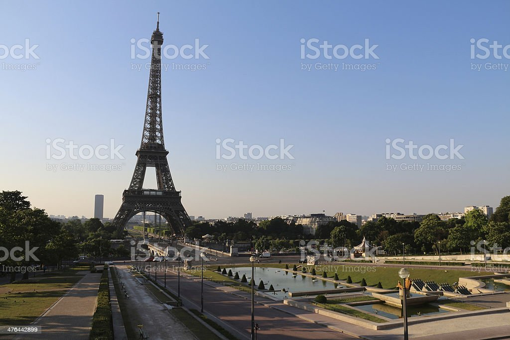 The Eiffel Tower via Trocad?ro Paris France royalty-free stock photo