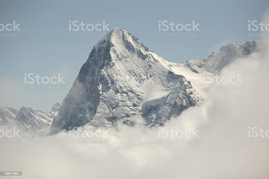 The Eiger, north face in shadow, Switzerland royalty-free stock photo