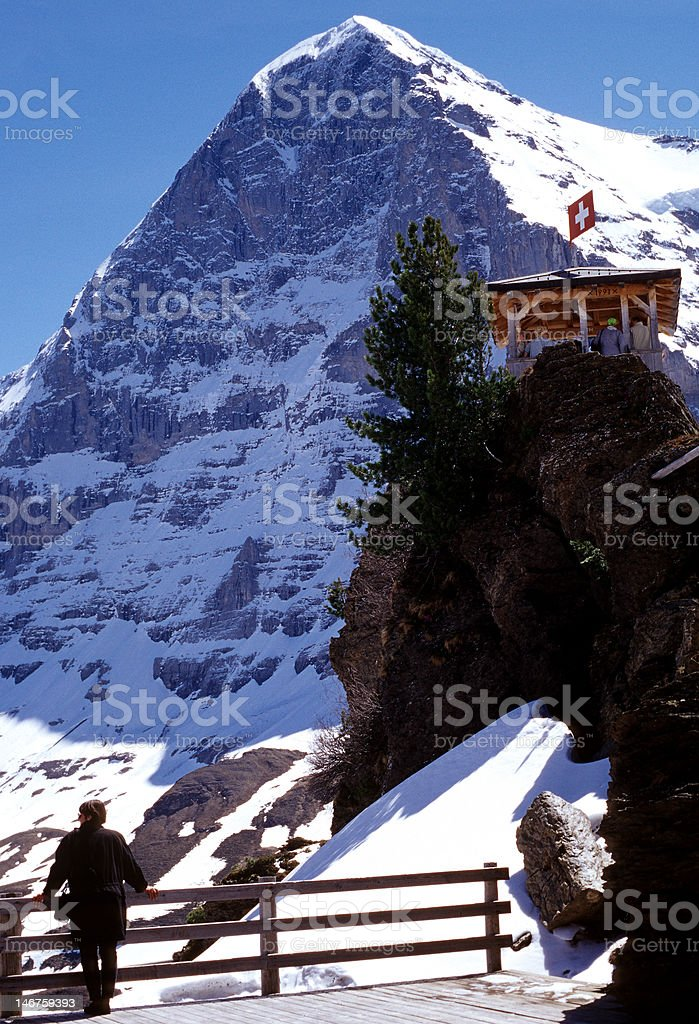 The Eiger North face royalty-free stock photo