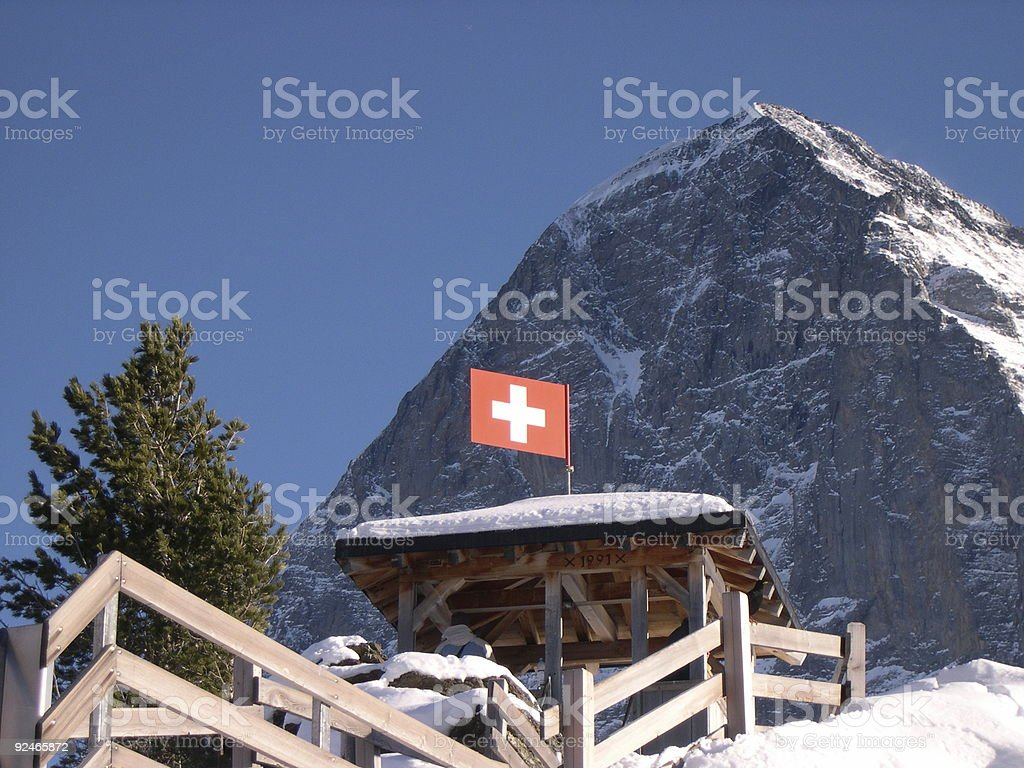 The Eiger royalty-free stock photo