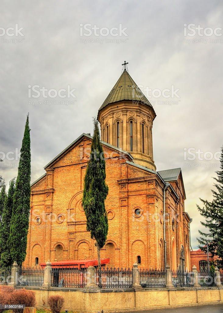 The Ejmiatsin Church in Tbilisi, Georgia stock photo