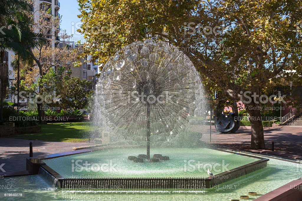 The El Alamein Memorial Fountain located in Kings Cross, Sydney stock photo