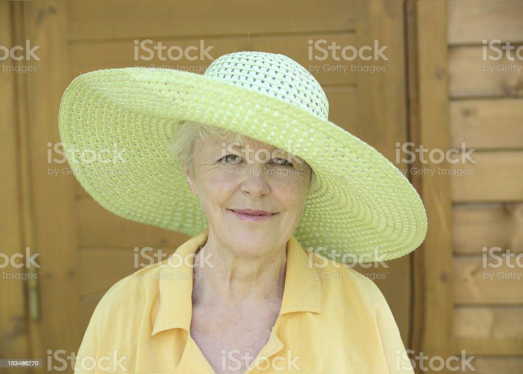 The elderly woman stock photo