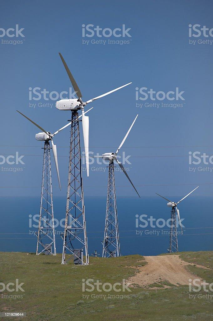 Die Elektrischer generator Lizenzfreies stock-foto