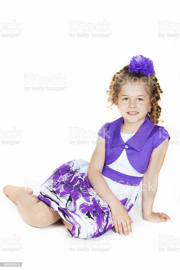 The elegant girl stock photo
