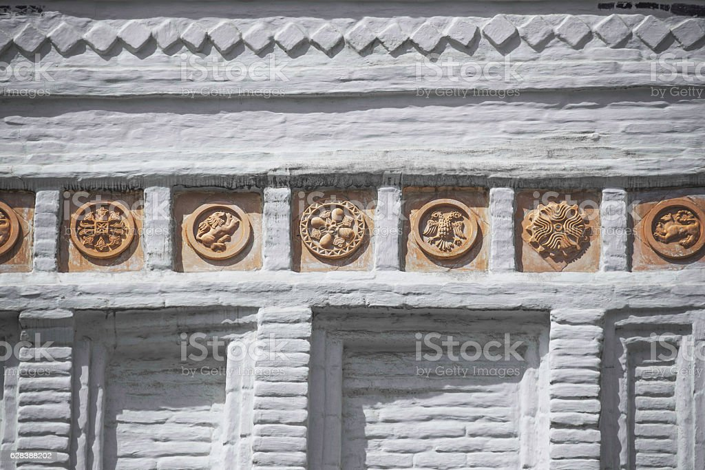 The elements of decoration of Trinity Cathedral in Kremlin stock photo
