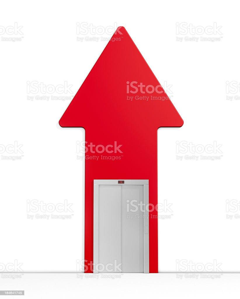The elevator doors royalty-free stock photo