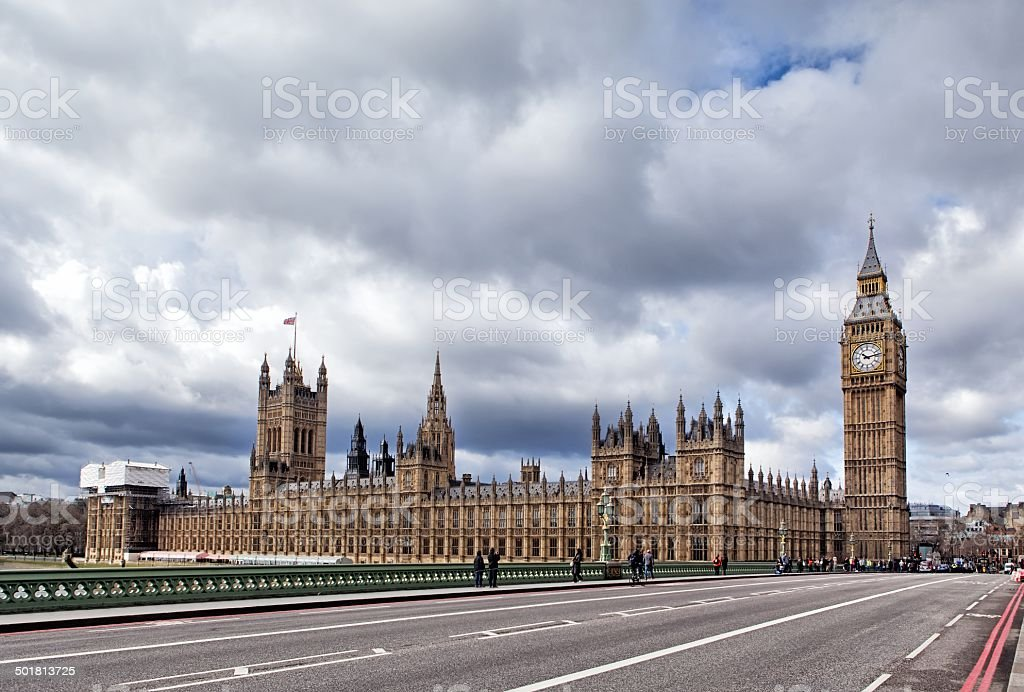 The Elizabeth Tower in London royalty-free stock photo