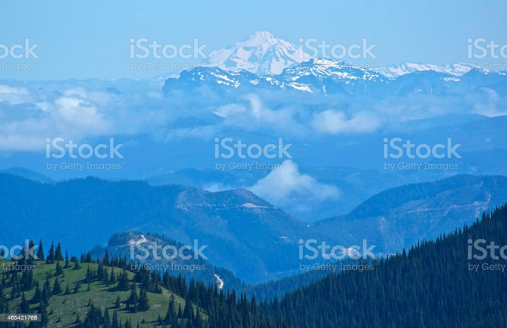 The Elusive Glacier Peak stock photo