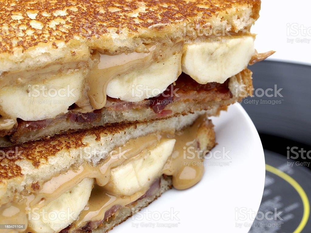 The Elvis Sandwich royalty-free stock photo