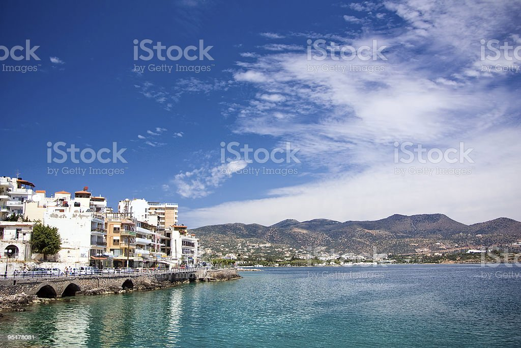 The embankment of Agios Nikolaos royalty-free stock photo