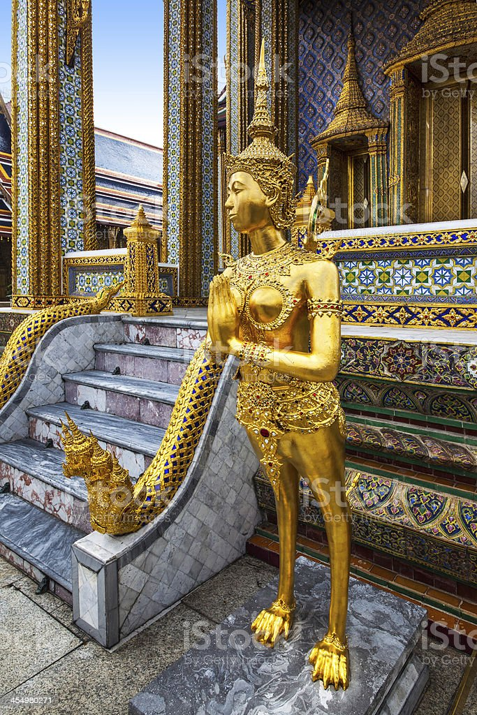 The Emerald Buddha (Wat Phra Kaew), Bangkok, attractions in Thailand. royalty-free stock photo