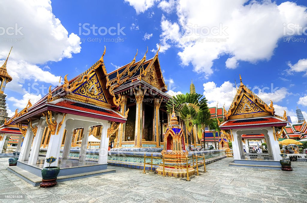 The Emerald Buddha Temple in Grand Palace stock photo