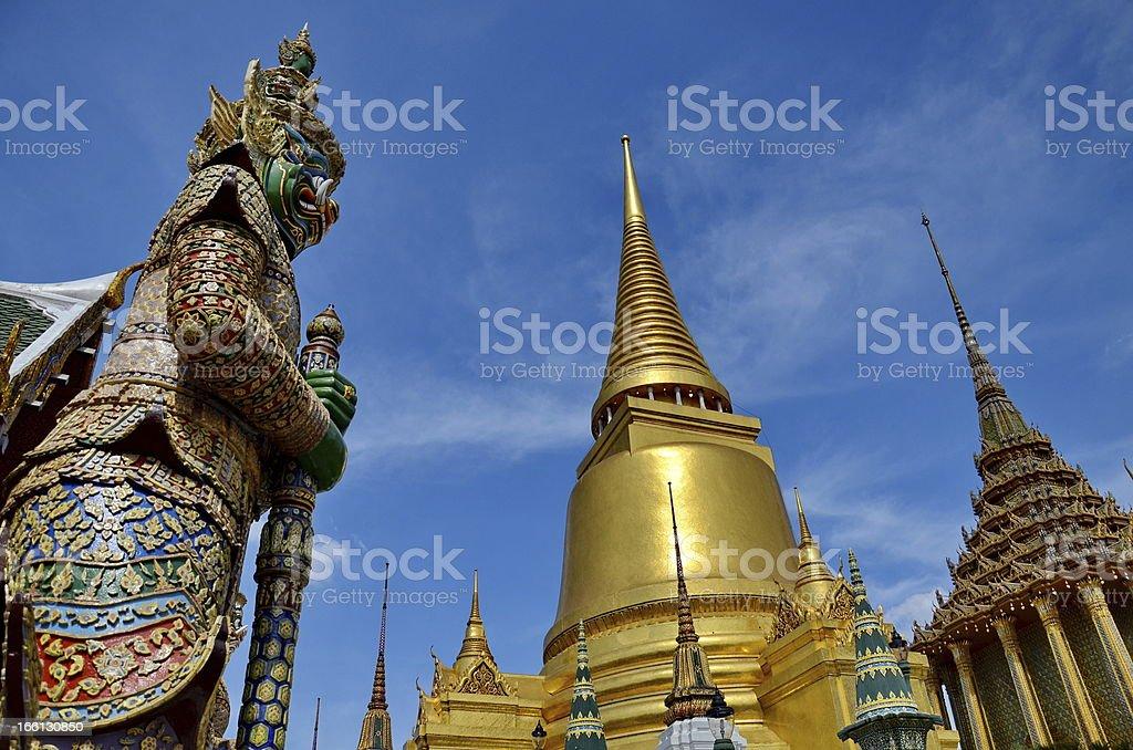The Emerald Buddha Temple , Wat Pra Kaew royalty-free stock photo