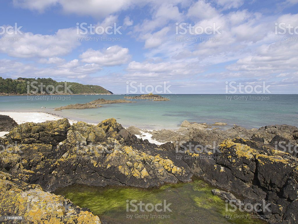 the Emerald Coast in Brittany royalty-free stock photo