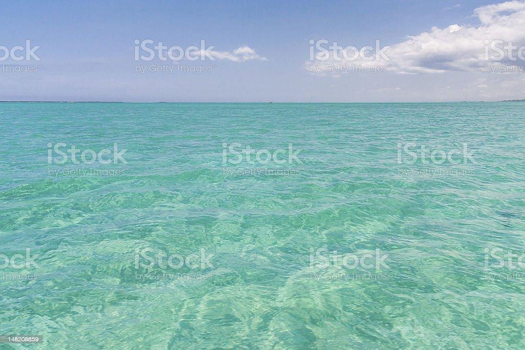 The emerald sea stock photo