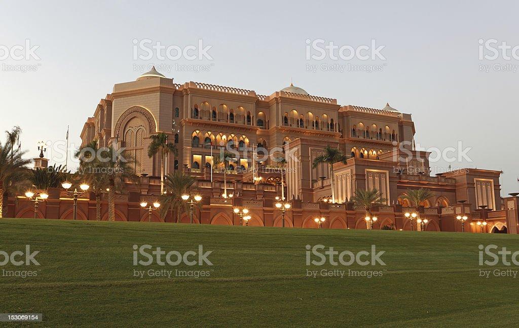 The Emirates Palace in Abu Dhabi stock photo