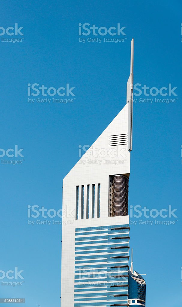 The emirates towers, Dubai stock photo