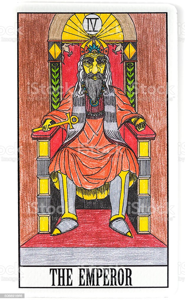 The Emperor Tarot Card stock photo