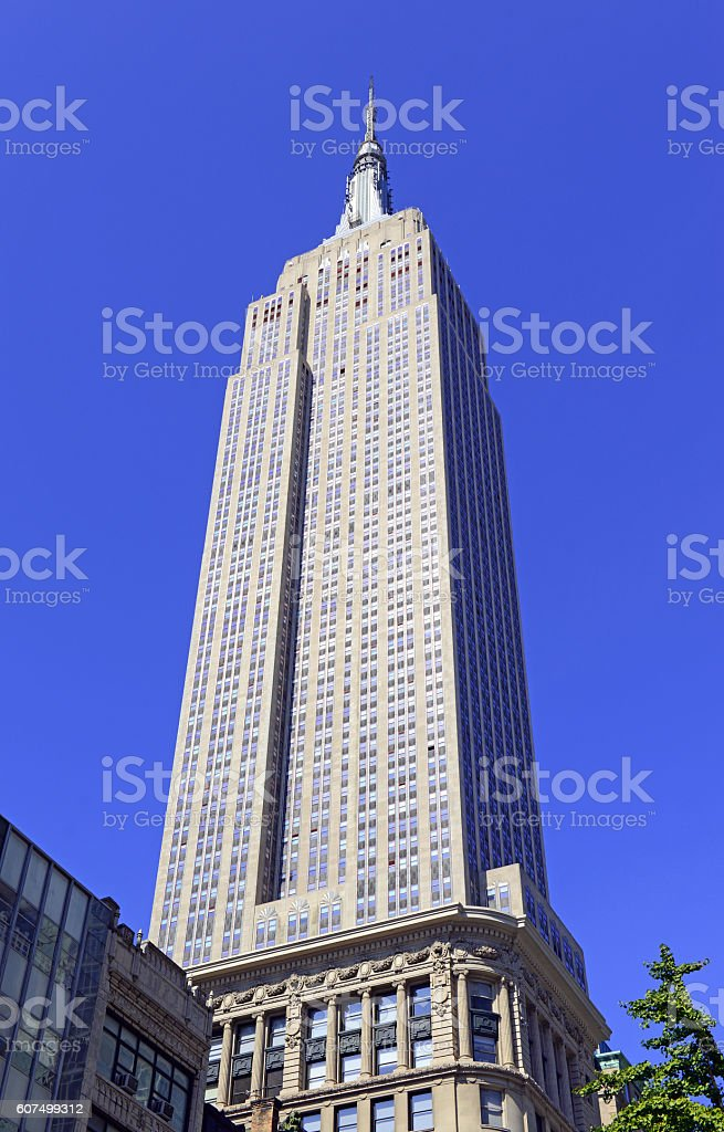 The Empire State Building in New York CIty stock photo