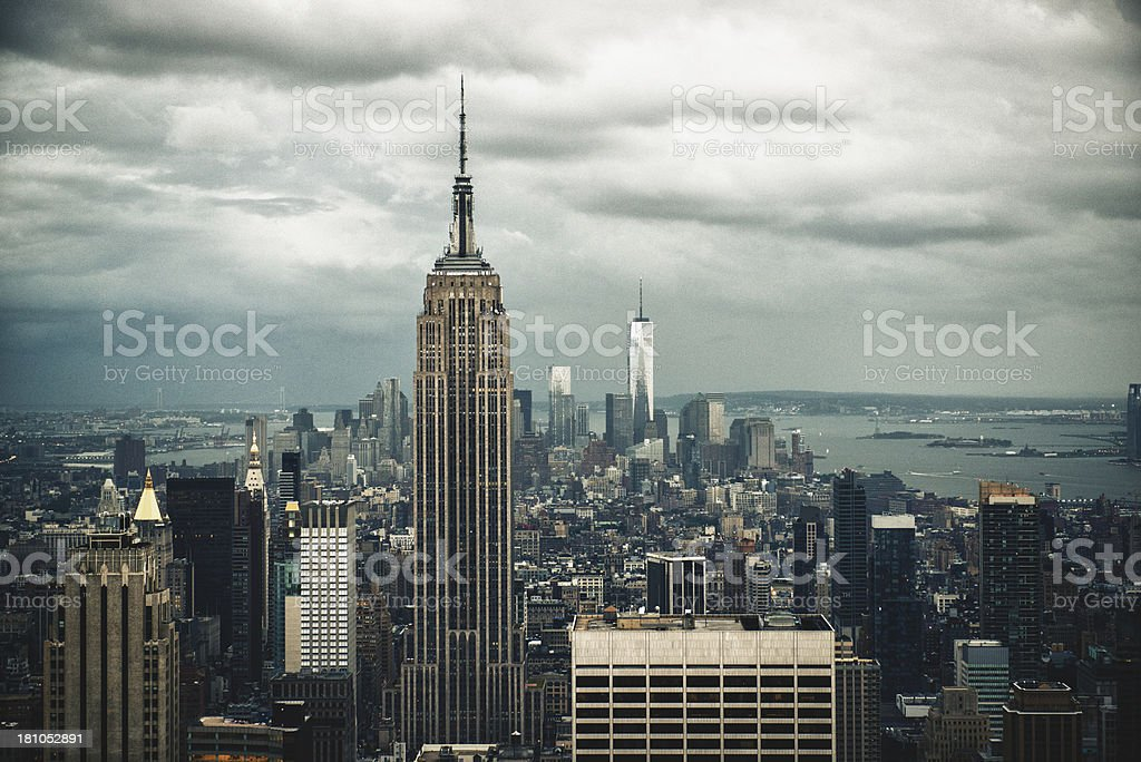 the empire state building on NYC royalty-free stock photo