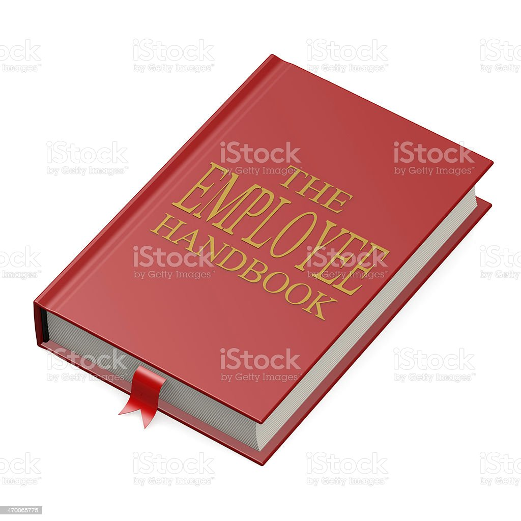 The employee handbook stock photo