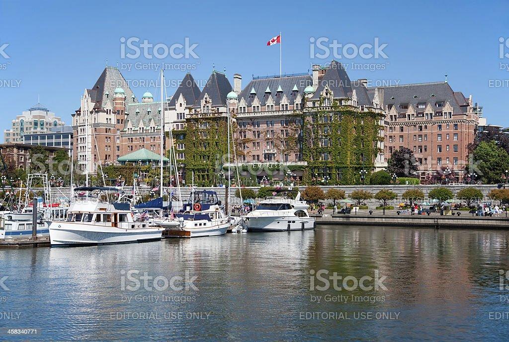 The Empress Hotel, Victoria, British Columbia, Canada stock photo