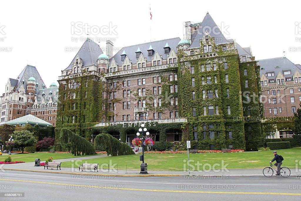 The Empress Hotel, Victoria stock photo