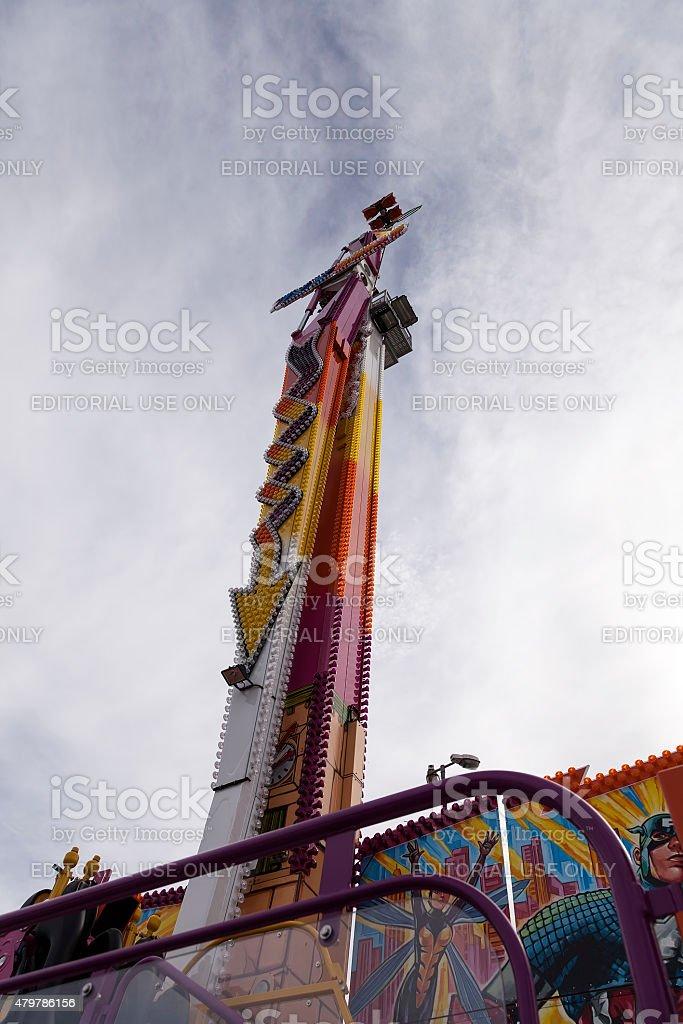 The empty carousel stock photo