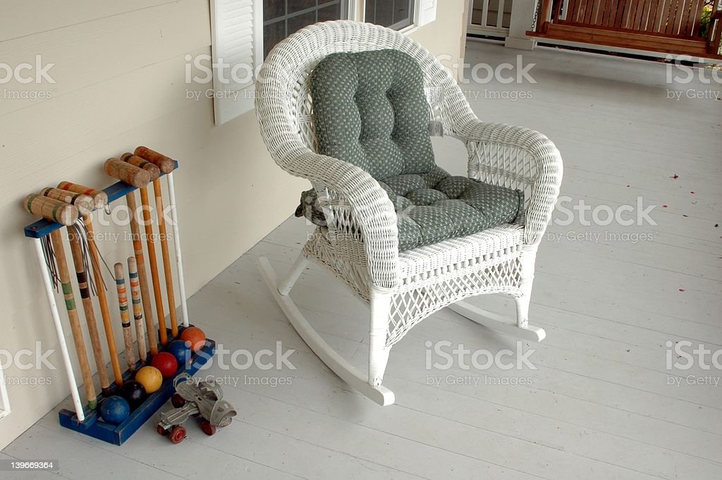 The empty chair stock photo