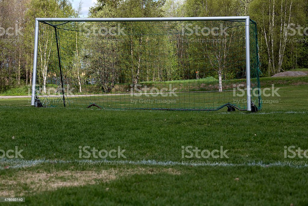 The empty goal royalty-free stock photo